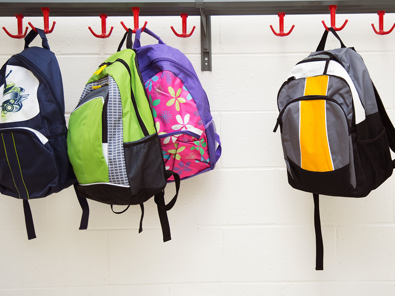 Executive Function Strategies, image of backpacks hanging on the wall